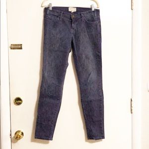 Current/Elliott Faded Snakeskin Skinny Jeans